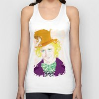 willy wonka Tank Tops featuring Wilder Wonka by Joshua A. Biron