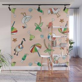 Tropical Goose Paradise Wall Mural