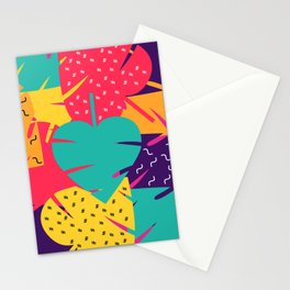 Retro leaves Stationery Cards