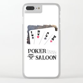 Welcome to the Poker Saloon Clear iPhone Case