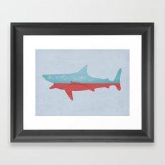 Bad day for a swim Framed Art Print