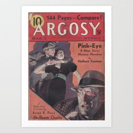 Argosy March 3rd 1934 Art Print