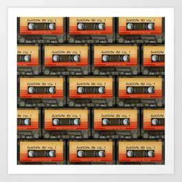 Awesome Guardian Cassette Vol 1 Art Print