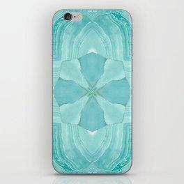 Jade Agate Stone Flower iPhone Skin