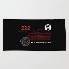 Michael Wittmann Panzer Ace 222 Villers Bocage Black Beach Towel