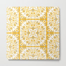 Yellow Tile Metal Print