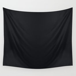 Jet Black Solid Color Parable to Jolie Paints Noir Wall Tapestry