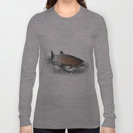 Migrating Steelhead Trout Long Sleeve T-shirt