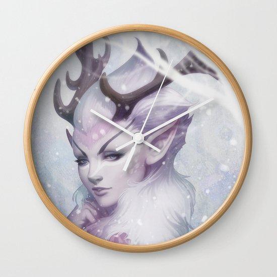 Reindeer Princess Wall Clock