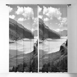 Gepatsch Reservoir Kaunertal Glacier Austria Alps Landscape black white Blackout Curtain