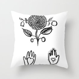 Shaker Symbols Throw Pillow