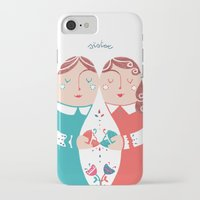 sister iPhone & iPod Cases featuring Sister by Michela Gaburro