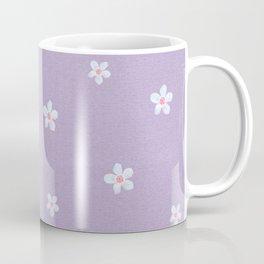 Modern lavender teal pink hand painted floral Coffee Mug
