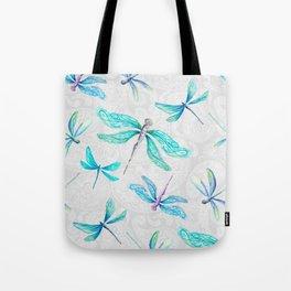Dragonflies on Paisley Tote Bag