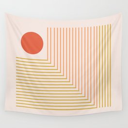 Lines & Circle 02 Wall Tapestry