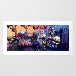 WELCOME TO GHOST TOWN Art Print