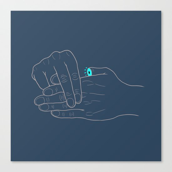 Real Finger Trick Canvas Print
