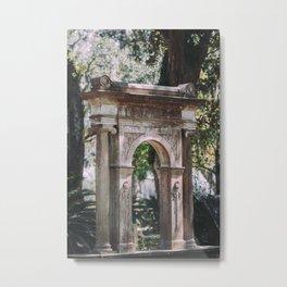 Arch at Bonaventure Cemetery Metal Print
