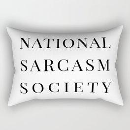 National Sarcasm Society Rectangular Pillow