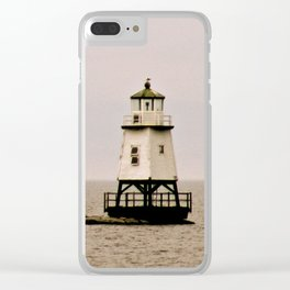 Lighthouse on Lake Champlain Clear iPhone Case