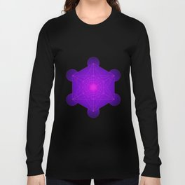 Metatron | Cube | Secret Geometry | Platonic | Matrix | Protects children Long Sleeve T-shirt