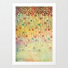 Flower Shower Art Print