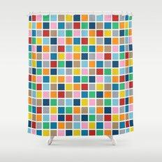 Colour Block Outline Shower Curtain