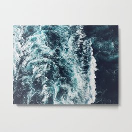 DARK BLUE OCEAN Metal Print