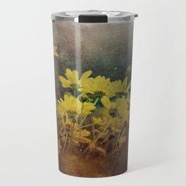Abstract Yellow Daisies Travel Mug