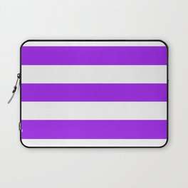 Veronica -  solid color - white stripes pattern Laptop Sleeve