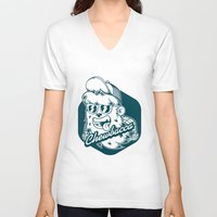 chewbacca V-neck T-shirts featuring Hipster Chewbacca by Redwane