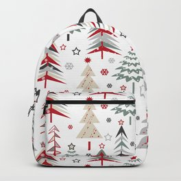 Fairy Christmas forest. Backpack