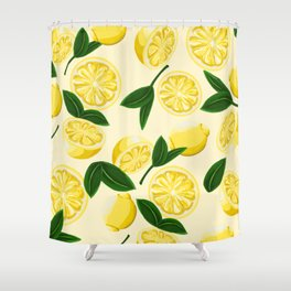 yellow lemons Shower Curtain