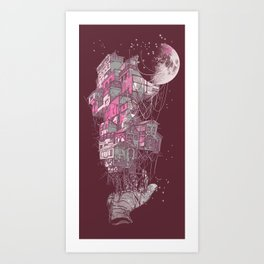 Whole world in his hands Art Print