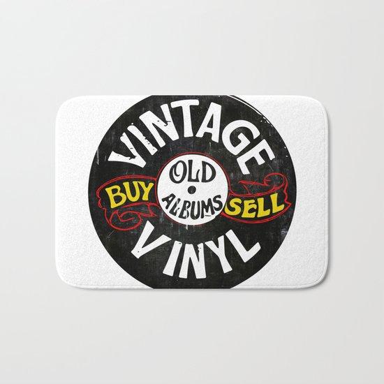 Vintage Vinyl Bath Mat