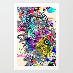 Doodle in Color Art Print