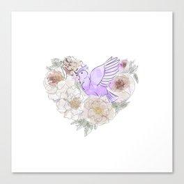 bird of paradise 2 , paradisebirds , simple floral graphic design , gift for gardener Canvas Print