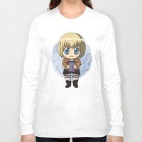 shingeki no kyojin Long Sleeve T-shirts featuring Shingeki no Kyojin - Chibi Armin by Tenki Incorporated