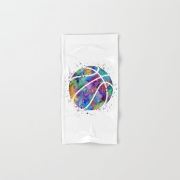 Basketball Watercolor Art Print Sports Poster Home Decor Kids Room Sports Painting Nursery Decor Hand & Bath Towel