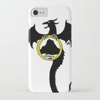 smaug iPhone & iPod Cases featuring Smaug by Selis Starlight
