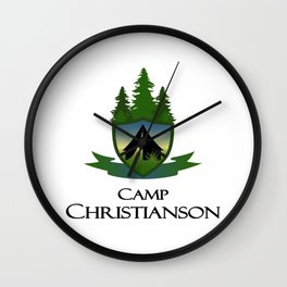 Camp C Logo Wall Clock