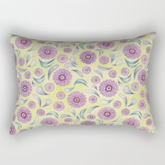 Floral on Lime Rectangular Pillow