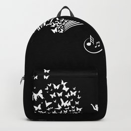Music Notes With Cat And Butterflies Backpack