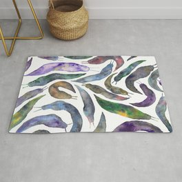 Watercolor Slugs Rug