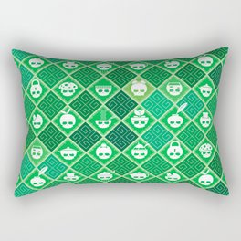 The Nik-Nak Bros. Veggie Greene Rectangular Pillow