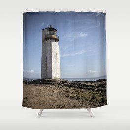 Southerness Lighthouse Shower Curtain