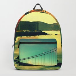 Magnificent Shoreline View Historic Golden Gate Bridge San Francisco Bay California USA Ultra HD Backpack