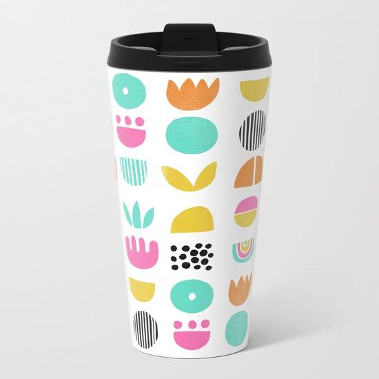 SIMPLE GEOMETRIC 001 Metal Travel Mug