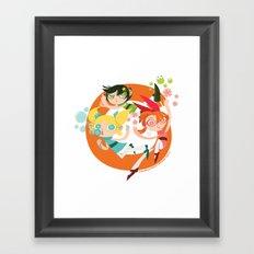 Powerpuff Loop Framed Art Print