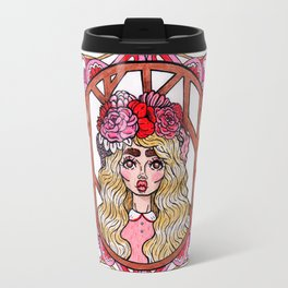 Crowned with Blossoms Travel Mug